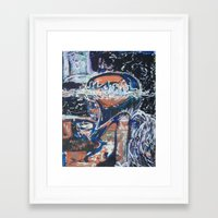 angels Framed Art Prints featuring Angels by Prime Vice