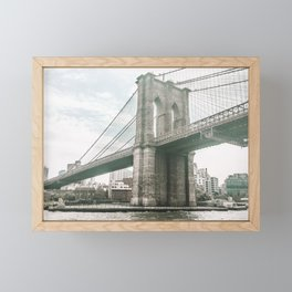 Brooklyn Bridge in New York, NY - Photography Framed Mini Art Print