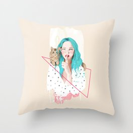 Shhh... Throw Pillow