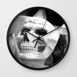 Skull mask, Old Curiosity Shoppe, Suisun City, CA  Wall Clock