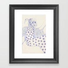 Flowery Framed Art Print