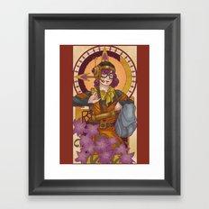Chronos IV Nouveau Framed Art Print