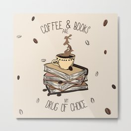 Coffee And Books Metal Print