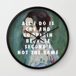 Gustav Klimt, Porträt einer Dame (1916-1917) / Halsey, Is There Somewhere (2014) Wall Clock