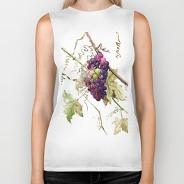 Grapes, California Vineyard Wine Lover design Biker Tank