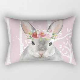 Animals in Forest - The little Bunny Rectangular Pillow