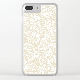 Small Spots - White and Pearl Brown Clear iPhone Case