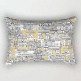 Paris toile gold Rectangular Pillow