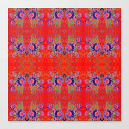 Summer Floral Red Canvas Print