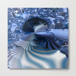 Organizing Chaos -- Striped fractal layers and details Metal Print