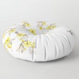 Birds and Cherry blossoms II Floor Pillow