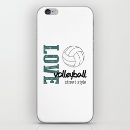 Love Volleyball Street Style iPhone Skin