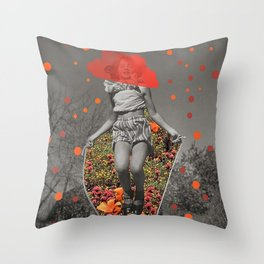 PLAY GROUND play ground,child,kids,mgmt,fun,eassy,happinesacid, lovelots, of fun,dopamine,collage vi Throw Pillow