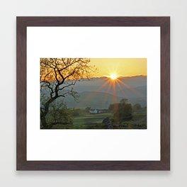 Sundown At Malhamdale Framed Art Print