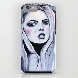 Watercolour Fashion Illustration Portrait Alluring Azure iPhone Case