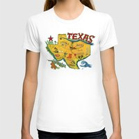 postcard T-shirts featuring Postcard from Texas print by Christiane Engel