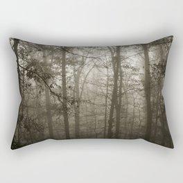 Foggy Woods Rectangular Pillow