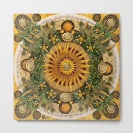 """""""Floral Aztec calendar"""" Metal Print"""