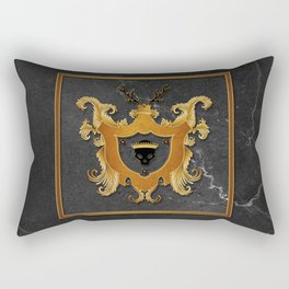 House of Gold and Marble Rectangular Pillow