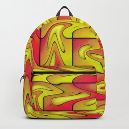 Liquefied abstract Backpack