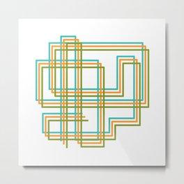 Square Ways Metal Print