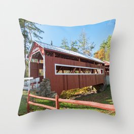 East and West Paden Twin Bridge Throw Pillow