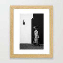 Minimal Contrast Framed Art Print