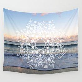 Flower shell mandala - shoreline Wall Tapestry