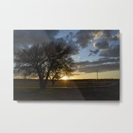 Sunset around the block from home Metal Print