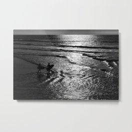 Surfboard Silhouettes Metal Print
