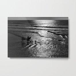 Surfboard Silhouettes Metal Print
