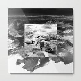 Square - Ice Metal Print