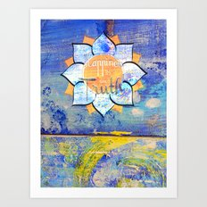 Happy Lotus Art Print