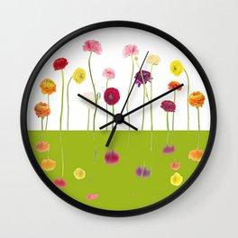 vibrant spring Wall Clock