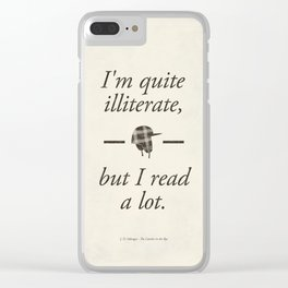 Salinger's The Catcher in the Rye - Literary quote art, bookish gift, modern home decor Clear iPhone Case