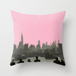 New York Nights Throw Pillow