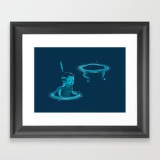 Space-time dilation Framed Art Print