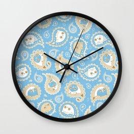Cat Paisley Good Morning Wall Clock