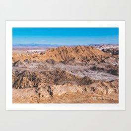 Valle de la Luna (Moon Valley) in San Pedro de Atacama, Chile 2 Art Print