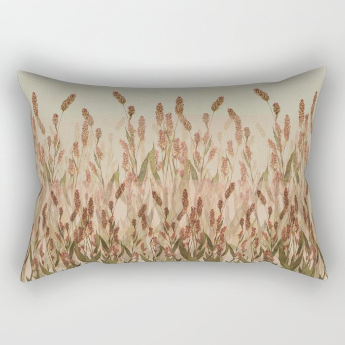 vegetal motif Rectangular Pillow