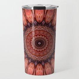Mandala mystic flower Travel Mug