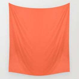 Outrageous Orange - solid color Wall Tapestry