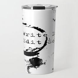 Hemingway Writing Quote Travel Mug