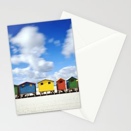 Colourful Huts at Muizenberg In Cape Town Stationery Cards