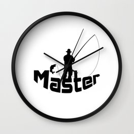 Fly fishing Wall Clock