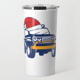 Christmas Jeep Travel Mug