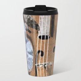 Bass Player Mural Down Town Fresno Travel Mug