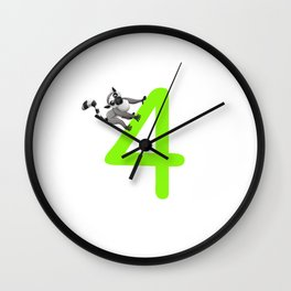Attention I'm already four designs for a birthday boy Wall Clock