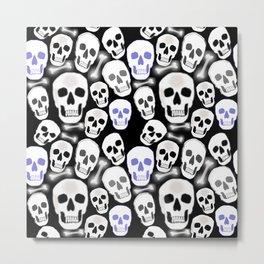 Small Tiled Skull Pattern Metal Print