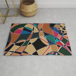 Abstraction. Curves and bends. Rug